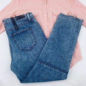 J Brand NWT Hi Rise Acid Wash Frayed Hem Jeans